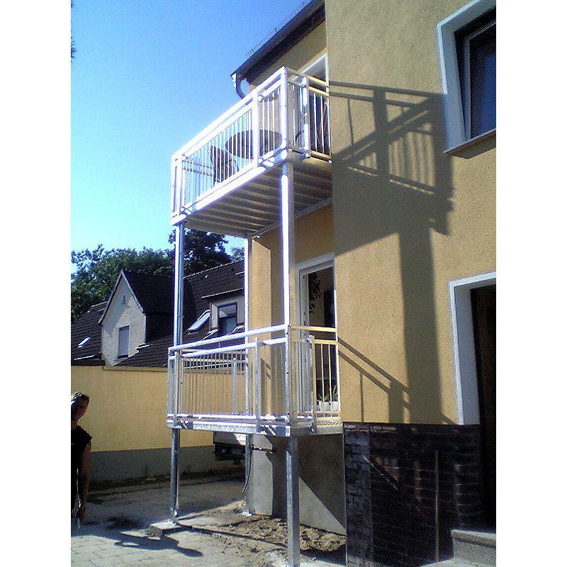 balkon 2500 1000 balkonanlage balkon verzinkt ohne montage vorgericht kunst und. Black Bedroom Furniture Sets. Home Design Ideas