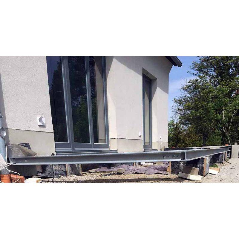 Terrasse 4m 5m Unterkonstruktion Stahl Verzinkt Balkonanlage