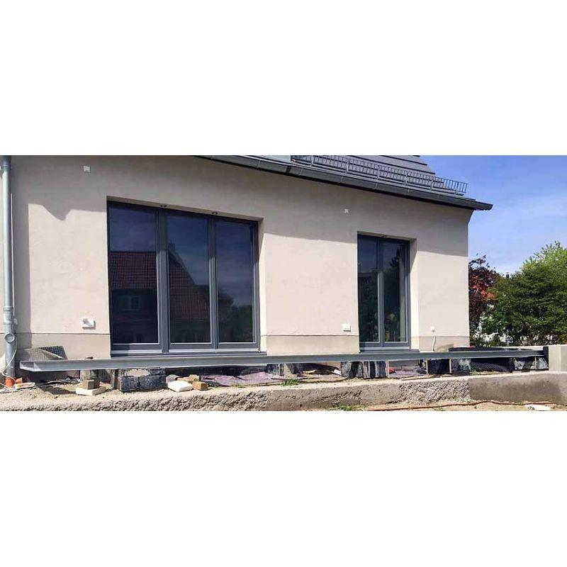 terrasse 4m 5m unterkonstruktion stahl verzinkt. Black Bedroom Furniture Sets. Home Design Ideas
