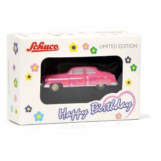 01433 Schuco Piccolo 1:90 Cadillach ´54 Happy Bithday 2018